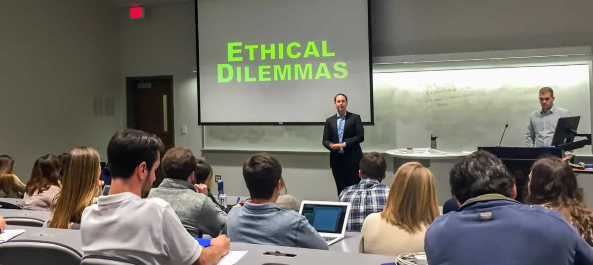 Ole Miss School of Business Ethics Class
