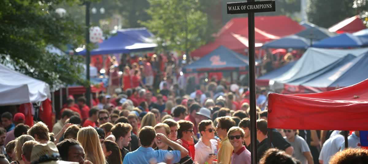 The Walk of Champions in the Grove on a Game Day - Ole Miss School of Business